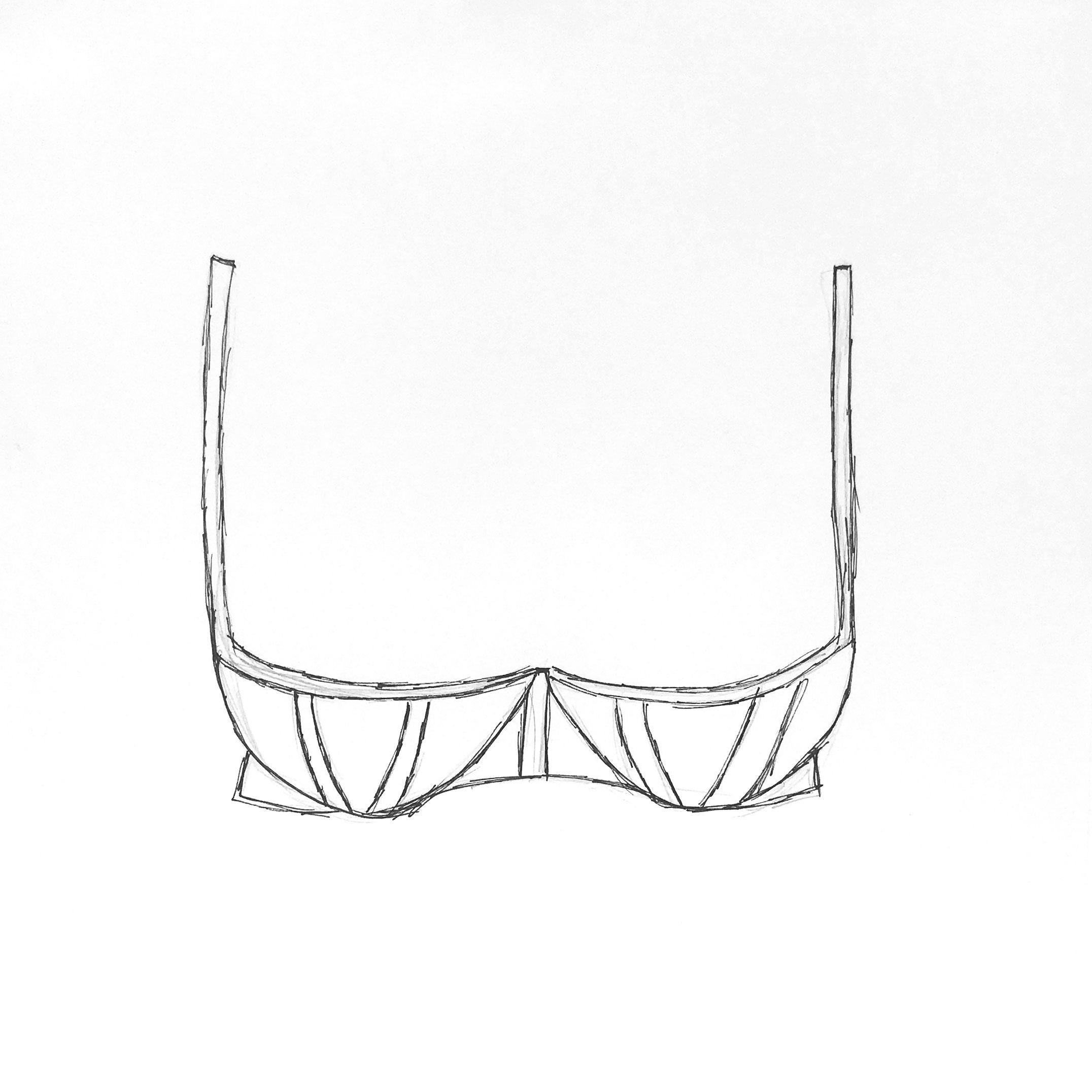 Sujetador balconet costura vertical explícito (o explicite).